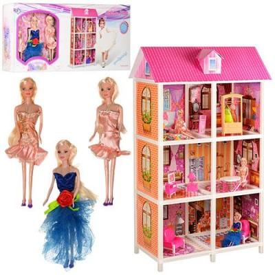 *Домик с мебелью для кукол типа Барби арт. 66886
