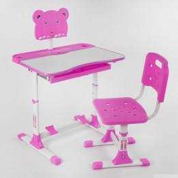 *Парта детская регулируемая со стульчиком РОЗОВАЯ арт. 1140