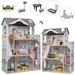 *Деревянный домик с мебелью для кукол со светом (аналог KidKraft) арт. 2674