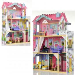 *Деревянный домик с мебелью для кукол (аналог KidKraft) арт. 2673