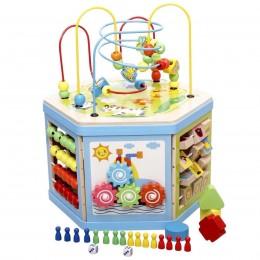 Развивающая деревянная игрушка (бизиборд, пальчиковый лабиринт) арт. 31353