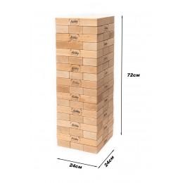 *Настольная деревянная игра Mega Giant Jenga Дженга TM Holiday (высота башни 72 см)