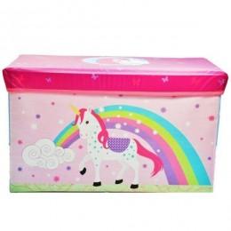 Детский пуф (корзина для игрушек) ЕДИНОРОГ арт. 44348