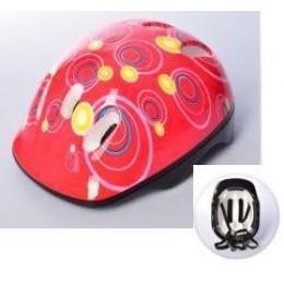 Детский защитный шлем КРАСНО-РОЗОВЫЙ арт. 2304