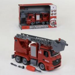 Пожарная машина-конструктор с водяной помпой (брызгает водой) арт. 9080 B