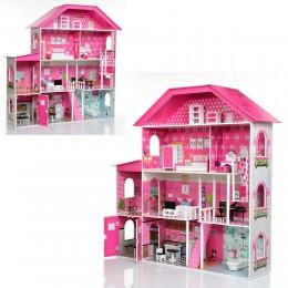 *Деревянный домик с мебелью для кукол (аналог KidKraft) арт. 2897
