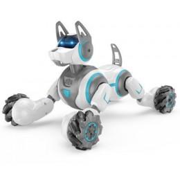 Собака интерактивная на радиоуправлении (управляется пультом и браслетом) БЕЛАЯ арт. 666-800А