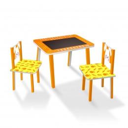 Набор детской мебели (столик с меловой поверхностью + 2 стульчика) арт. C024