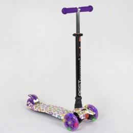 *Самокат Scooter Best Maxi (с регулировкой ручки и светящимися колесами) арт. 1326 (25528)