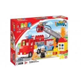 """Конструктор """"Пожарная станция"""" JDLT (36 деталей) арт. 5152"""