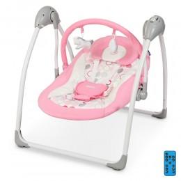 *Детский шезлонг- качалка (колыбель) с электроприводом и пультом El Camino арт. 1047 Flower Pink