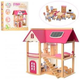 Деревянный домик для кукол арт. 1068 (21374)