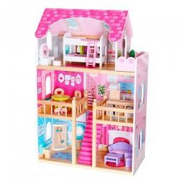 *Деревянный кукольный домик с мебелью арт. 1039