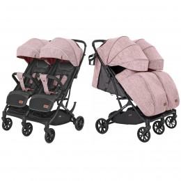 Коляска прогулочная CARRELLO Presto Duo CRL-5506 Cherry Pink +дождевик /1/ MOQ