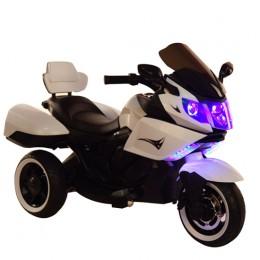 Ел-мобіль T-7224 WHITE мотоцикл 2*6V4AH мотор 2*20W з MP3 106*55*74 /1/