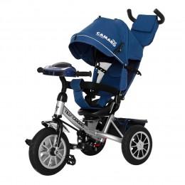 Велосипед триколісний TILLY CAMARO T-362/2 Синій з надувними колесами