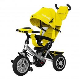 Велосипед триколісний TILLY CAMARO T-362/2 Жовтий з надувними колесами