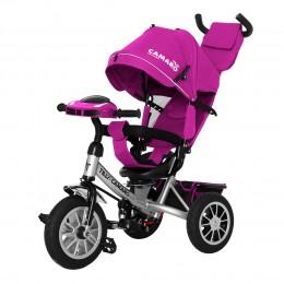 Велосипед триколісний TILLY CAMARO T-362/2 Фіолетовий з надувними колесами