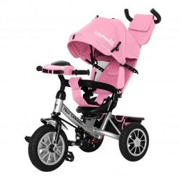 Велосипед триколісний TILLY CAMARO T-362/2 Рожевий з надувними колесами